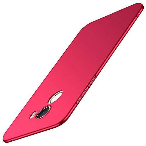 Caler ® Funda Compatible/Reemplazo para Xiaomi Mi Mix 2 Funda, Esmerilado Mate Carcasas Ultra-Delgado y Ligera, Absorción de Choque Caso,Aislamiento térmico Protectora Anti-Rasguño (Rojo)
