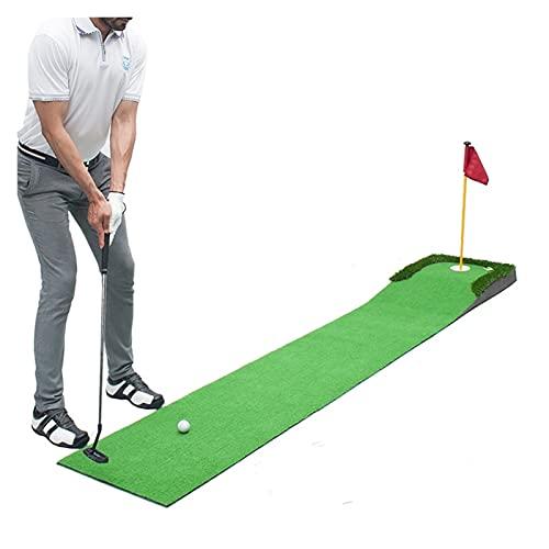 Plegable Golf Putting Mat, juego de golf interior Juego de la familia de conducción Matting Mat, Mat de práctica de golf Mats de golpe para jardín interior al aire libre usando hierba Portátil
