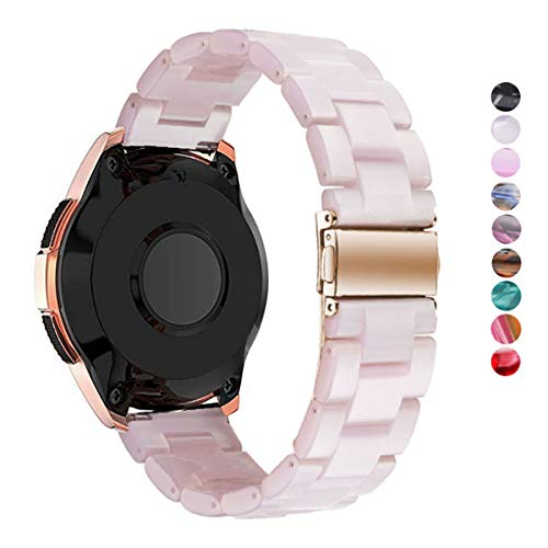 DEALELE Kompatibel Samsung Gear Sport Uhrenarmband 20mm Buntes Harz Resin Ersatz für Armbands, Falls zutreffend Samsung Gear Sport / S2 Classic/Galaxy Watch 42mm / Active Damen Herren (Pink)