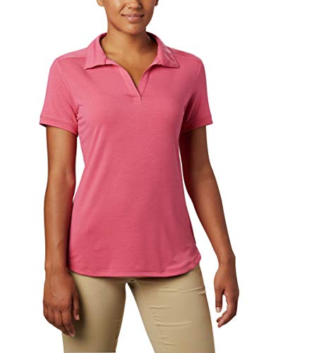Columbia Women's Essential Elements Polo, Rouge Pink, Medium