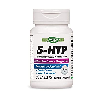 Nature's Way 5-HTP L-5-Hydroxytryptophan Vitamin B6 + Vitamin C + Griffonia Bean Extract 30 Count