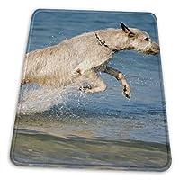 マウスパッド アイリッシュ・ウルフハウンド 海の中 ゲーミングマウスパット デスクマット 最適 高級感 おしゃれ 滑り止めゴム底 防水設計 複数サイズ