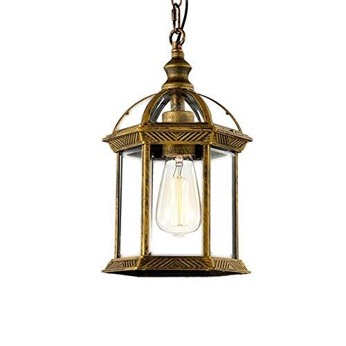 Memnk Lámpara de linterna colgante al aire libre Lámpara de techo clásica...