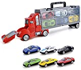 Amitasha Race Truck Trolley Car Carrier Toy Set for Kids - 6 Cars