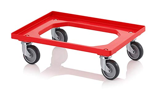 Heavy Duty Dolly Transport Trolley for 600 x 400 Euro Plastic Stacking Containers (1)