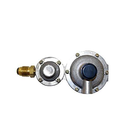 Mr. Heater F273863 Horizontal Vent Propane Two Stage Regulator, 1, BRASS/BLACK
