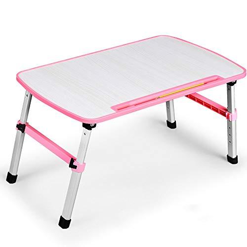 TYZXR Verstellbarer zusammenklappbarer Computertisch/höhenverstellbarer/zusammenklappbarer Büchertisch/Mehrzweck-Lazy People-Tisch Kann gedreht Werden (Farbe: ROSA, Größe: 520 * 300 * 240 / 315MM)