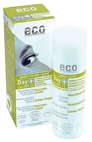eco cosmetics Bio Gesichtscreme LSF 15 mit Granatapfel und Sanddorn (2 x 50 ml)