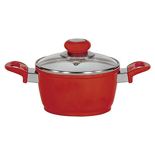Krüger pan, gegoten aluminium, rood, 24 cm