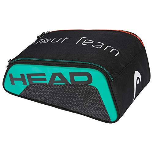 HEAD Unisex-Erwachsene Tour Team Shoe Bag Tennistasche, schwarz/türkis, Einheitsgröße