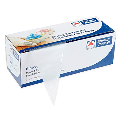 thermohauser Einweg-Spritzbeutel (Kunststoff PE), Maximum Grip, transparent, 100 Stück, 46,0x23,0x0,0075 cm