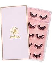 DYSILK 6D Mink Eyelashes Wispies Handmade False Eyelashes Pack Extension Thick Long Reusable Makeup Soft Natural Look Fake Eyelashes