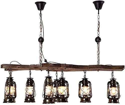 Vintage Black Iron and Glass Lampshade Hanging Lamp for Living Room Bar Loft