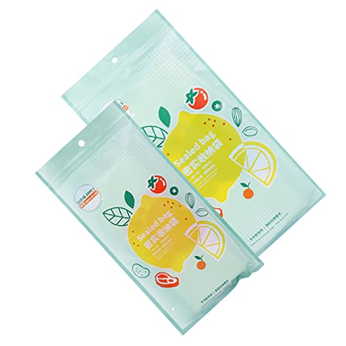 Hemoton 35 Unidades Reutilizables de Galones Bolsas de Congelador Bolsas de Almacenamiento de Alimentos Zip- Lock Bolsa de Sellado para Marinate Food Fruit Sandwich Snack Prep 15 Pzas L Y