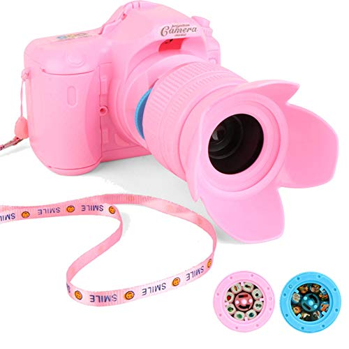 Yusheng - Telecamera di proiezione con luce e musica, giocattolo per bambini con 2 slideshow e collo imbragatura, interessante giocattolo educativo ragazza regalo - effetto realistico