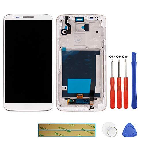 Swark - Pantalla LCD Compatible con LG G2 D802 D805 (con Marco), Pantalla táctil LCD, digitalizador y Herramientas
