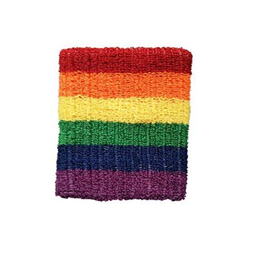Rainbow Cotton Toalla Deportiva Absorbente de Sudor Muñequera Baloncesto Bádminton Diseñador Muñeca Logotipo Personalizado Protector Regalos-Colorido BCVBFGCXVB