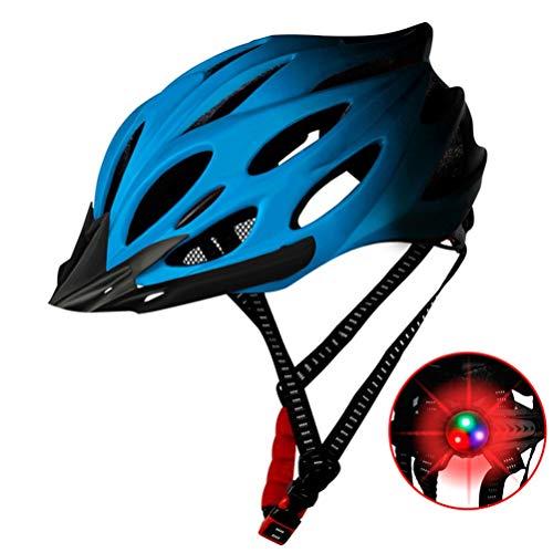 ZhangHai Réglable Casque de Vélo Spécialisés avec feu arrière à LED de sécurité Casque de VTT de Protection Ultraléger Montagne et Route pour VTC et VTT Adultes Hommes et Femmes
