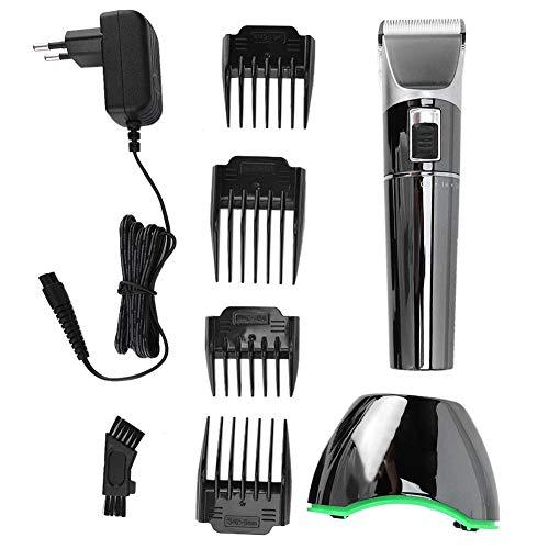 Cortadora de pelo eléctrica Garosa Cortadora de pelo Máquina de corte Juego de herramientas de peluquería para hombres Afeitadora recargable de bajo ruido(UE)