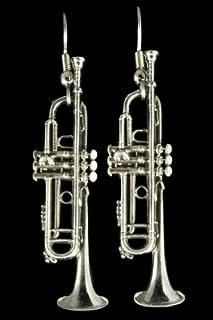 Trumpet Earrings (Silver)