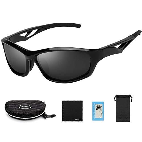TOQIBO サングラス 偏光 レンズ 運転用 メンズ レディース スポーツ 超軽量 クリア UV400 紫外線をカット 釣り 野球 テニス ゴルフ 自転車 TR90