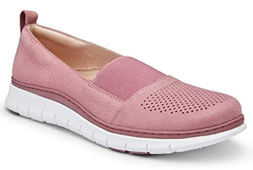 Vionic Women's Fresh Roxan Leisure Travel Shoes - Ladies Slip on Walking Shoe with Concealed Orthotic Arch Support French Rose 6 Wide US