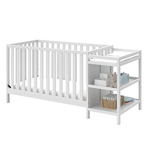 Storkcraft Pacific 4-in-1 Convertible Crib and Changer, White