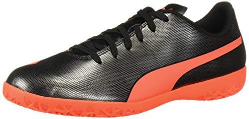 PUMA Men's Rapido Indoor Trainer Sneaker, Black-Red red Aged Silver, 10.5 M US