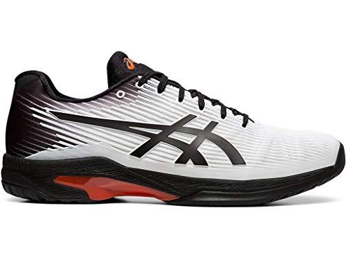 ASICS Men's Solution Speed FF Tennis Shoes, 8.5M, White/Black