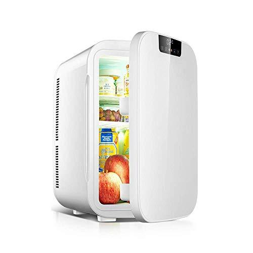 TUNBG 25 l auto koelkast kleine woonhuis woning reis verwarming en koelbox draagbare Mini Dual Voltage auto koelkast vrieskast - wit/goud