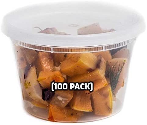 16 oz outlet - OFFicial 100 Count Food Deli Storage Plastic Containers Li with
