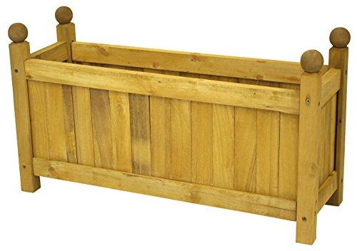 Maceta de buzón de madera, länglich