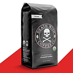 Get your Death Wish Coffee fix with this smooth dark roast coffee that is conveniently ground for your auto-drip coffee maker Take pride knowing that you're drinking USDA Certified Organic and Fairtrade coffee Our beans are carefully selected & exper...