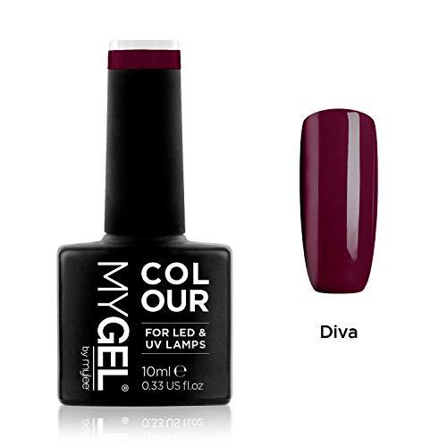 Esmalte de gel para uñas MyGel, de MYLEE (10ml) MG0012 - Diva UV / LED Nail Art Manicure Pedicure para uso profesional en el salón y en el hogar - Larga duración y fácil de aplicar