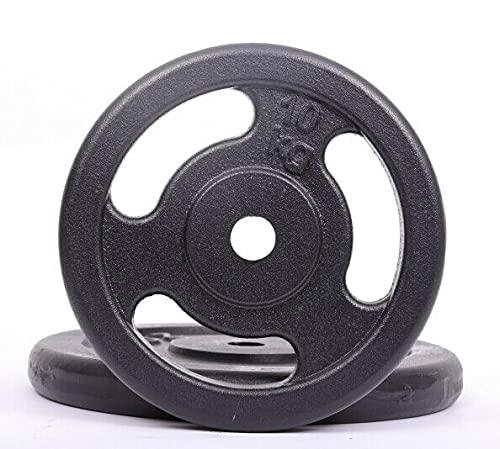 AtHaus® Hantelscheiben 10kg Gusseisen Bohrung 30/31mm Hantel Gewichte GRIPPER Guss Scheiben Gusscheibe Hantelscheibe Platte Rad Pro