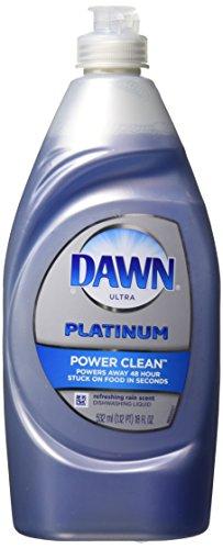 Dawn Platinum Power Clean Dishwashing Liquid, Refreshing Rain, 18 Fluid Ounce (Pack of 2)