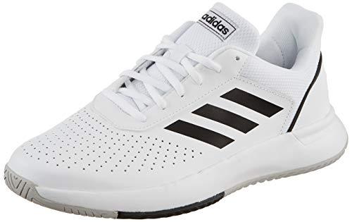 Adidas COURTSMASH, Zapatillas de Tenis para Hombre, Blanco (Ftwbla/Negbás/Gridos 000), 43 1/3 EU