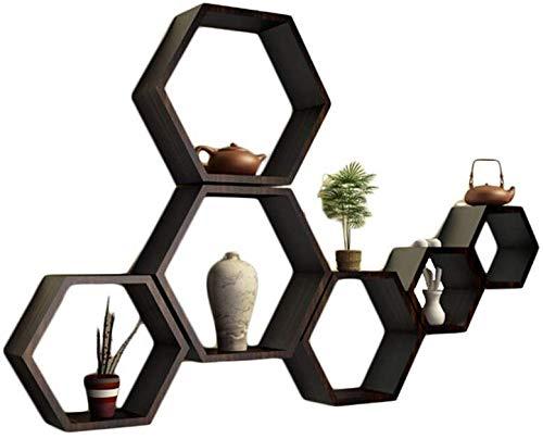 Decoratiestandaard / frame van massief hout, creatief rooster, TV-kast om op te hangen aan de muur in de woonkamer