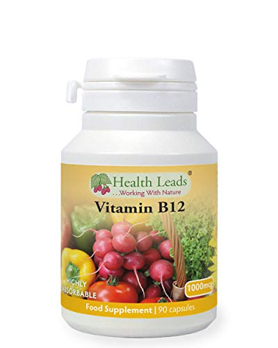 Vitamin B12 Methylcobalamin 1000mcg 90 Capsules, Magnesium Stearate Free & No Nasties, B12 contributes to The Reduction of Tiredness and Fatigue, Normal Function of The Immune System, Made in Wales