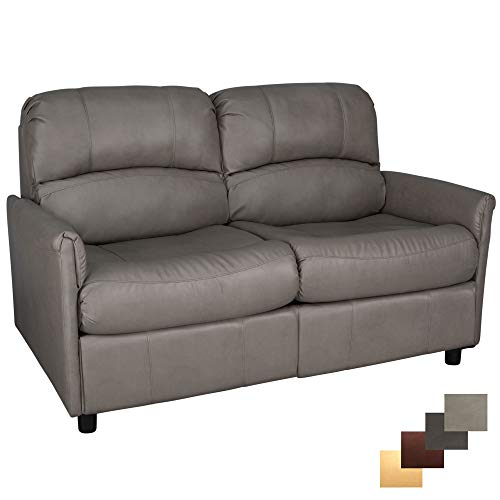 RecPro Charles Collection | 60' RV Hide A Bed Loveseat | RV Sleeper Sofa | Memory Foam Mattress | Pull Out Couch | RV Furniture | RV Loveseat | RV Living Room (Slideout) Furniture | Putty