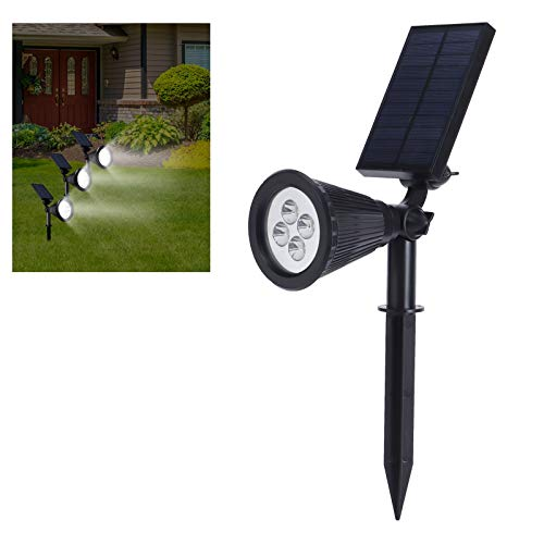 Jingyig Luces solares al Aire Libre, focos de Paisaje 2 en 1 con energía Solar, Chips de lámpara LED incorporados Ajustables a Prueba de Agua para jardín