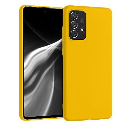kwmobile Custodia Compatibile con Samsung Galaxy A72 - Cover in Silicone TPU - Back Case per Smartphone - Protezione Gommata Miele