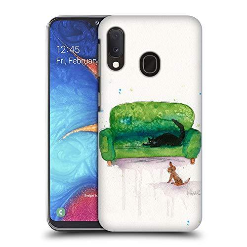 Head Case Designs Offizielle Zugelassen Wyanne Couch Cat and Dog Tiere 2 Harte Rueckseiten Handyhülle Hülle Huelle kompatibel mit Samsung Galaxy A20e (2019)