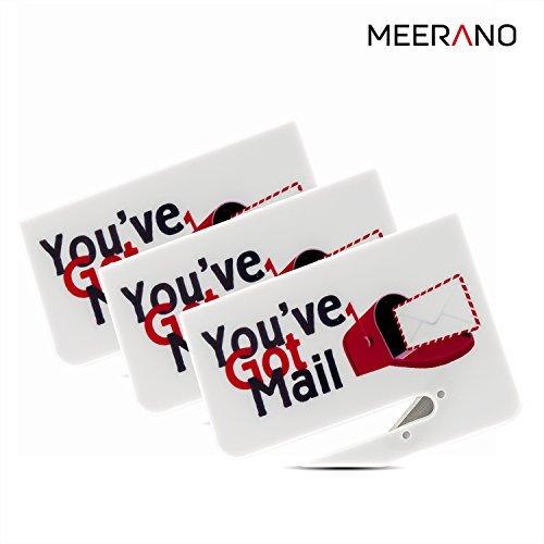 Letter Opener 3 pack, Razor Blade Paper Knife, Envelope Slitter Set