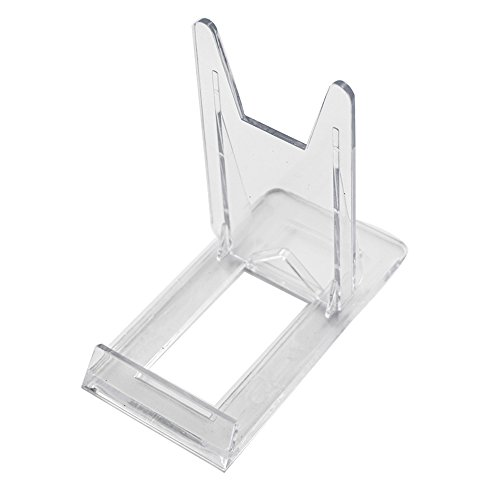 Tincogo Two Part Adjustable Clear Acrylic Plastic Display Stand Easel (set of 6)