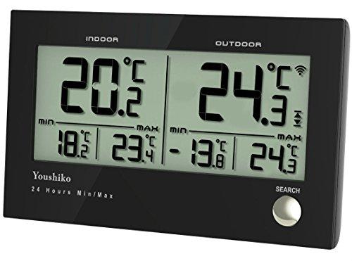 Youshiko Digital Wireless Indoor outdoor Weather Thermometer, Gauge,...