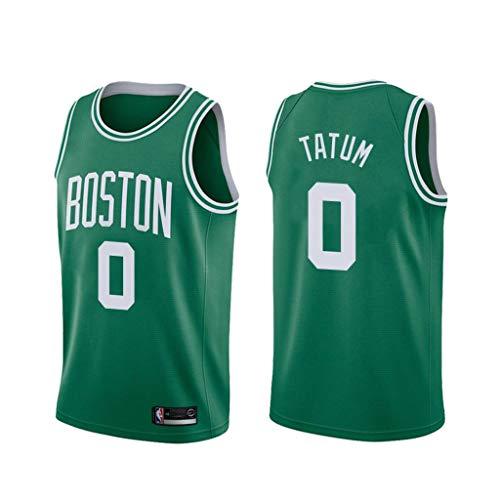canottejerseyNBA Jayson Tatum - Boston Celtics #0, Basket Jersey Maglia Canotta, Swingman Ricamata, Abbigliamento Sportivo (M, Verde)