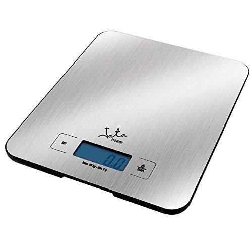 Jata Balanza de Alta precisión electrónica, Acero Inoxidable, Gris metálico, 0,305