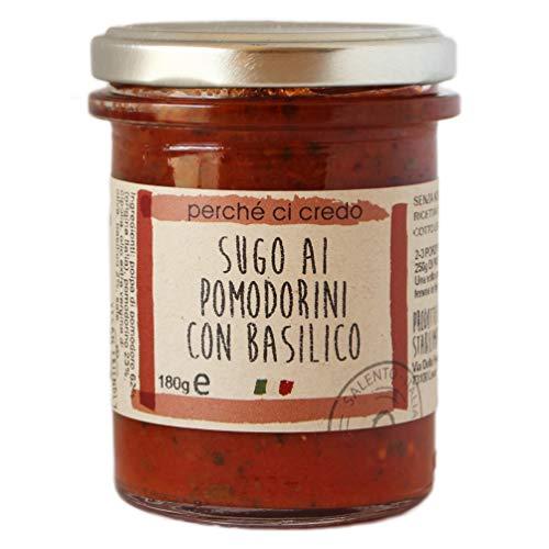 パスタソース イタリア産 チェリートマトの極上パスタソース シンプルバジル perche ci credo 180g 2?3人前 保存料不使用