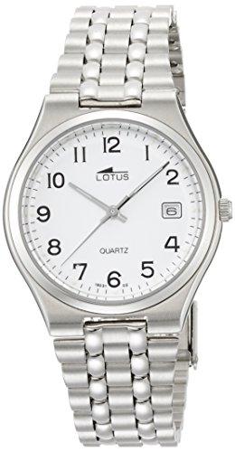 Reloj Lotus para con Blanco Y Plata Acero Inoxidable 15031/2